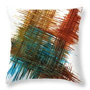 Intensive Abstract Painting 710.102610 Throw Pillow