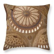 Inter Domes Of Sultan Ahmed Mosque Throw Pillow