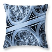 Interchange Cyanotype Throw Pillow