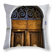 Interesting Door Throw Pillow