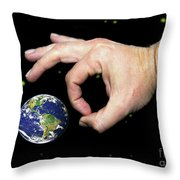 Intergalactic Marbles Throw Pillow