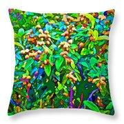 Intergalactic Orange Grove Throw Pillow