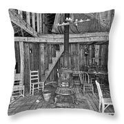 Interior Criterion Hall Saloon - Montana Territory Throw Pillow