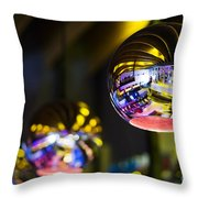 Interior Design Detail In Modern Trendy Bar At Night Throw Pillow