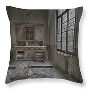 Interior Furniture Atmosphere Of Abandoned Places Dig Photo Throw Pillow by Enrico Pelos