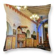 Interior Image Of San Juan Bautista Mission Throw Pillow