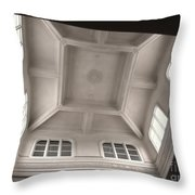 Interior Of A Japanese Colonial Building Throw Pillow