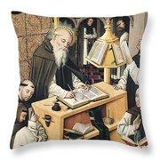 Interior Of A Scriptorium Throw Pillow