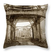Interior Of Carmel Mission Looking Towards The Altar. Circa 1880 Throw Pillow