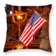 Interior Of Old Faithful Inn Throw Pillow