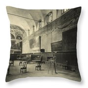 Interior Of The Dining Hall Of The Church Of Santa Maria Delle Grazie Milan Throw Pillow by Alinari