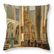 Interior Of The Franciscan Church Salzburg Throw Pillow