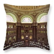 Interior Of The Library Of Congress Throw Pillow