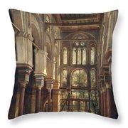 Interior Of The Mosque Of El Mooristan In Cairo Throw Pillow
