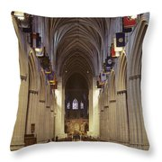 Interior Of The National Cathedral Throw Pillow
