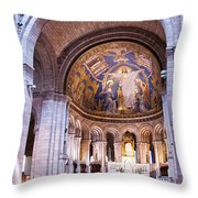 Interior Sacre Coeur Basilica Paris France Throw Pillow