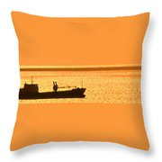 Interisland Freighter Throw Pillow
