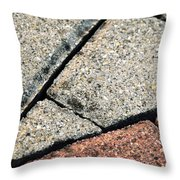Interlocking Paving Sawed Detail Throw Pillow