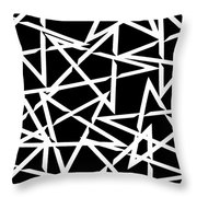 Interlocking White Star Polygon Shape Design Throw Pillow