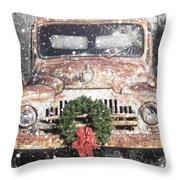 International Christmas Snow Throw Pillow