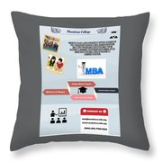 International Master Of Business Administration Throw Pillow