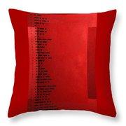 International Morse Code - Black On Red Throw Pillow