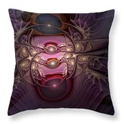 Internecine Throw Pillow