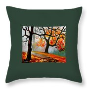 Interplacement Throw Pillow