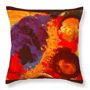 Interplanetary Encounter Throw Pillow