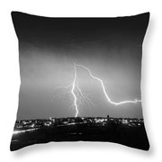 Intersection Black And White Throw Pillow