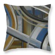 Intersection In Blue 2 Throw Pillow