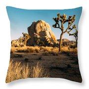 Intersection Rock Joshua Tree National Park Throw Pillow