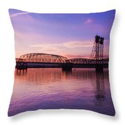 Interstate Bridge Throw Pillow