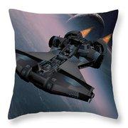 Interstellar Spacecraft Throw Pillow