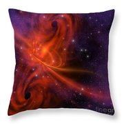 Interstellar Twister Throw Pillow