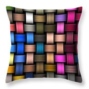 Intertwined Abstract Background Throw Pillow