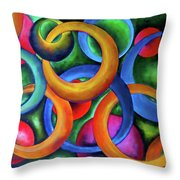Intertwined Bonds Throw Pillow