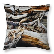 Intertwined Throw Pillow by Chris Steinken