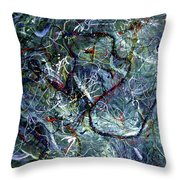 Intertwining Paths Throw Pillow