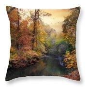 Intimate Autumn Throw Pillow