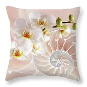 Intimate Fusion In Soft Pink Throw Pillow