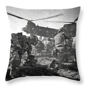 Into Battle - Charcoal Throw Pillow
