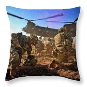 Into Battle - Painting Throw Pillow