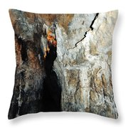 Into Crystal Cave Throw Pillow