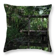 Into Green Throw Pillow