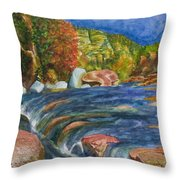 Into Slide Rock Throw Pillow