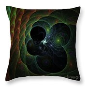 Into Space And Time Throw Pillow