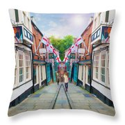 Into Steep Hill Throw Pillow