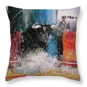 Into The Arena Throw Pillow