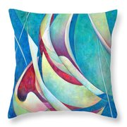 Into The Breeze Throw Pillow